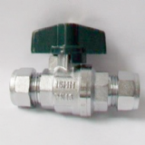 Small Lever Chrome Compression Isolation Valve 15mm - 07000131